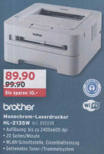 Brother-Laserdrucker - März 2013