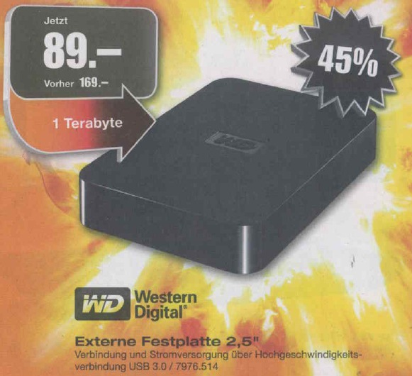 Festplatte m electronics - September 2012